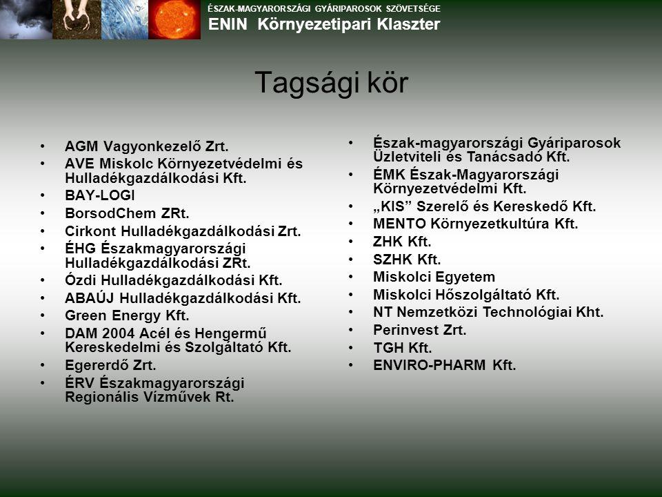 Tagsági kör AGM Vagyonkezelő Zrt. AVE Miskolc Környezetvédelmi és Hulladékgazdálkodási Kft.