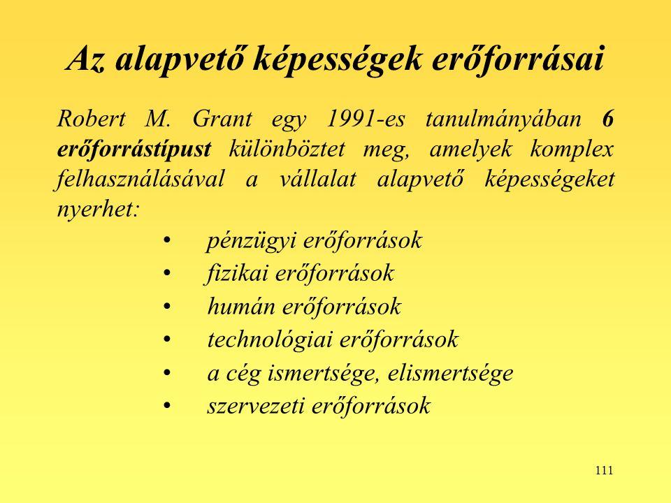 111 Az alapvető képességek erőforrásai Robert M.
