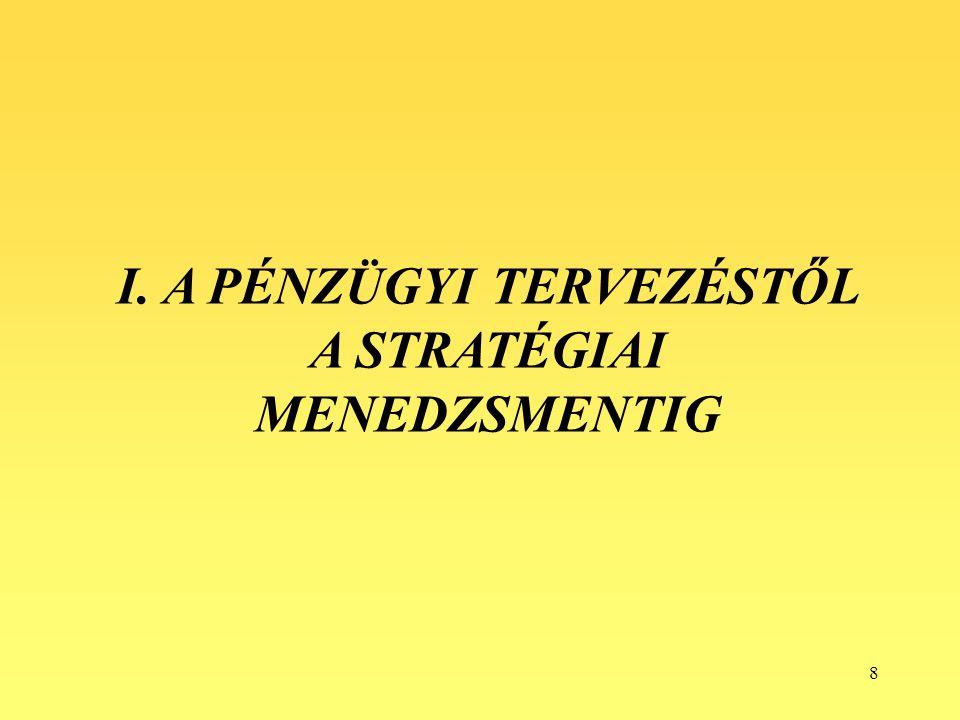 79 Akciótervezés A stratégiaalkotásnak ebben a periódusában már az operatív irányításban is hasznosítható terveket készítik el a tervezők.