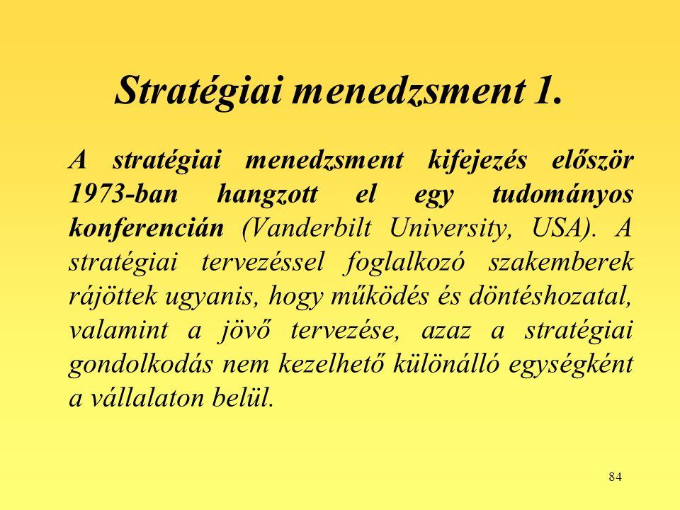 84 Stratégiai menedzsment 1.