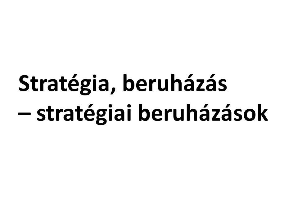 Stratégia, beruházás – stratégiai beruházások