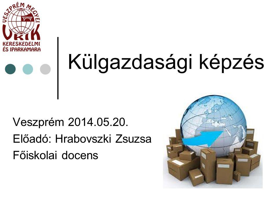 Külgazdasági képzés Veszprém 2014.05.20. Előadó: Hrabovszki Zsuzsa Főiskolai docens