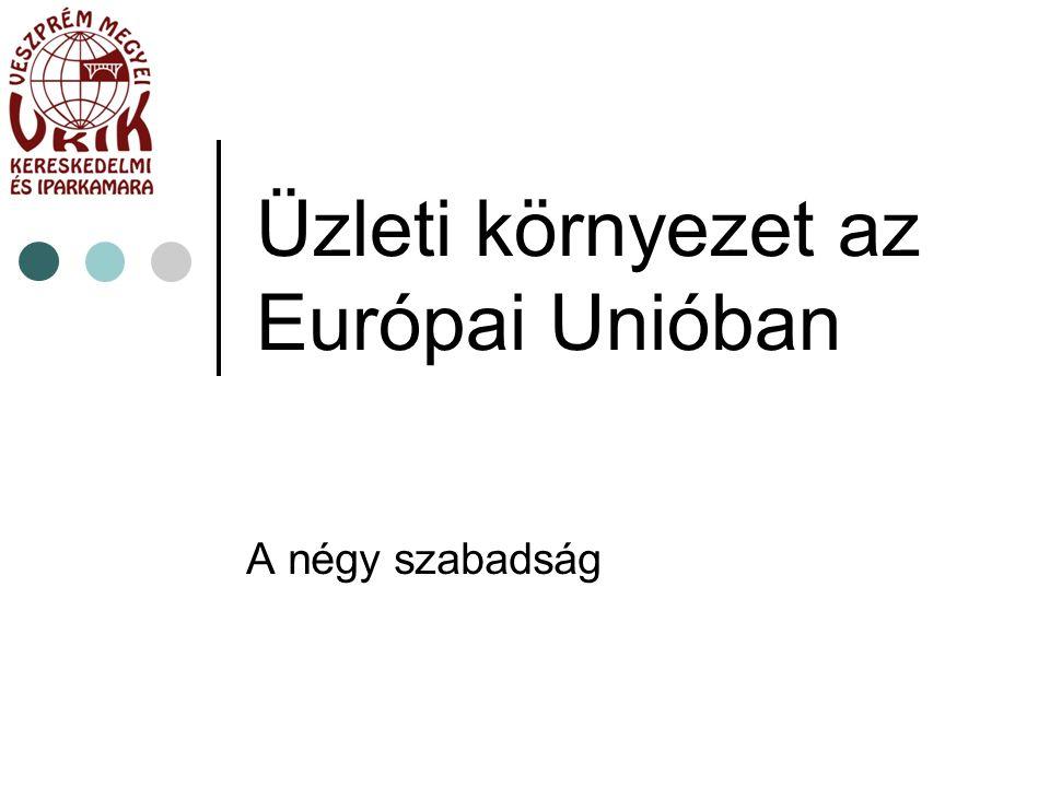 Üzleti környezet az Európai Unióban A négy szabadság