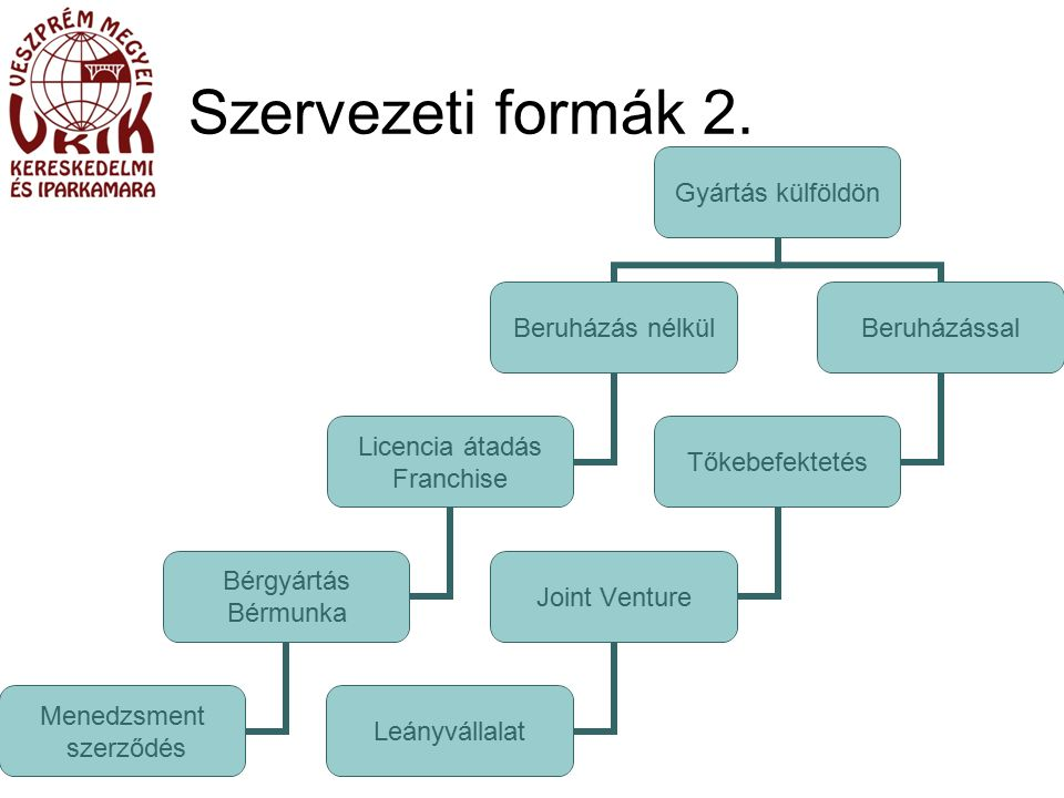 Szervezeti formák 2.