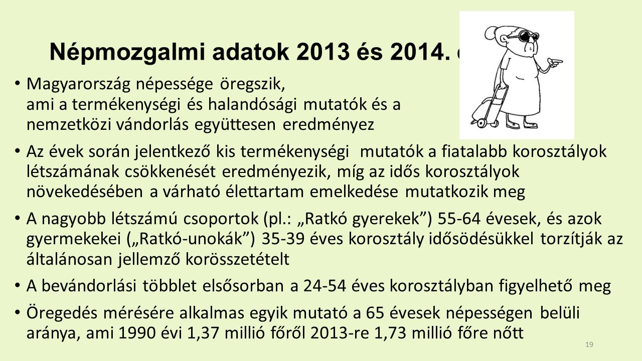 Népmozgalmi adatok 2013 és 2014.