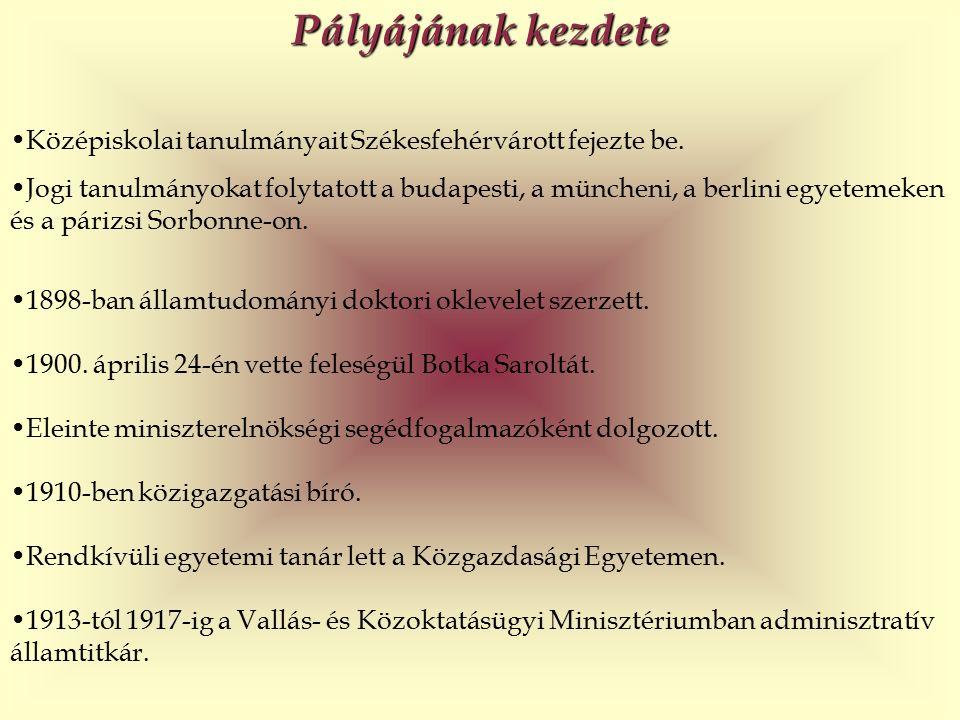 Pályájának kezdete Középiskolai tanulmányait Székesfehérvárott fejezte be.