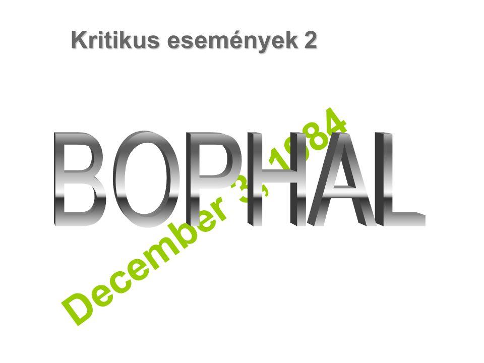 December 3, 1984 Kritikus események 2