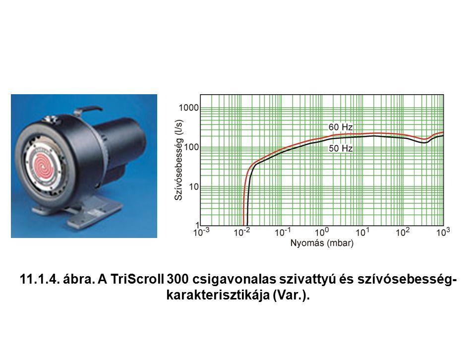 11.1.4. ábra. A TriScroll 300 csigavonalas szivattyú és szívósebesség- karakterisztikája (Var.).