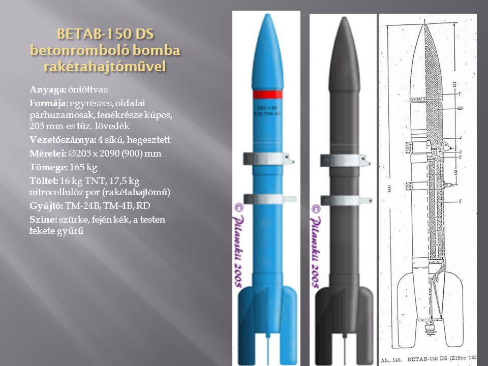 AOCh-15 repesz- vegyi bomba Anyaga: acél Formája: egyrészes, oldalai párhuzamosak, fenékrésze kúpos, 107 mm-es tüzérségi lövedék Vezetőszárnya: 4 síkú, hegesztett Méretei:  107 x 620 (240) mm Tömege: 14,64 kg Töltet: 1,15 kg vegyi anyag, 1 kg TNT Gyújtó: TM-4A, AV-4, AGM-1, AGM-3, AM-A