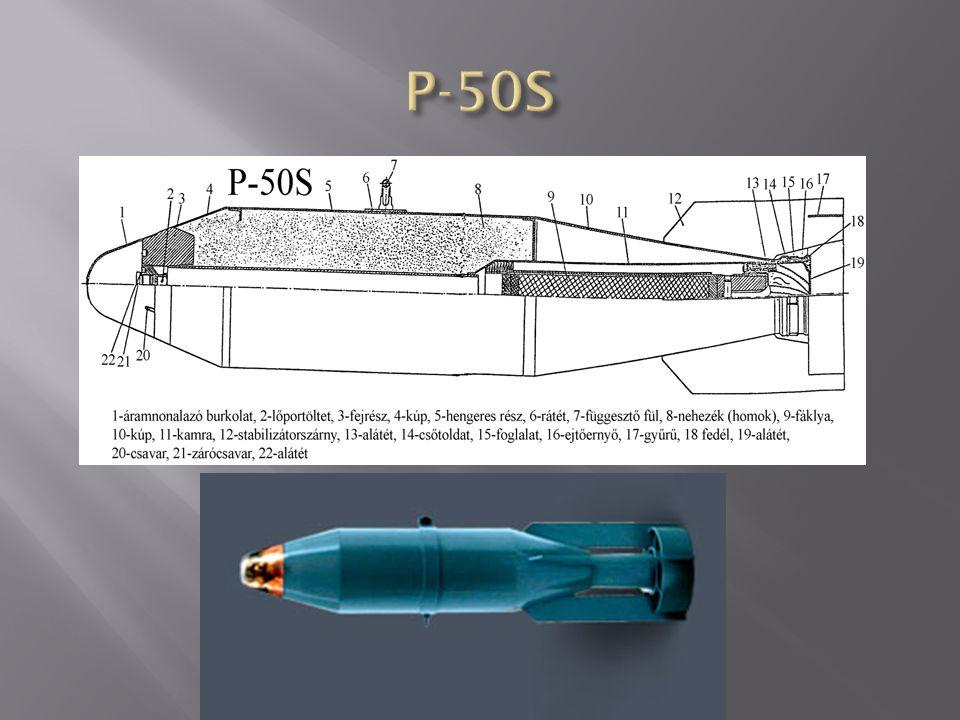 A bomba köpenyből, stabilizátorból és a belsejében elhelyezett nappali töltetből áll.