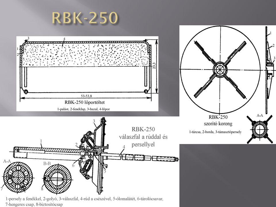 hossza: 2276-2300 mm a bomba átmérője: 325 mm a kazetta nyitásának minimálisan megengedett magassága: 180 m a lőportöltetek száma: 2 db színe: a bomba szürke, a kazetta hengeres részén, közel az orr-kúphoz 2 db gyűrű van festve, az egyik sötétkék, szaggatott, a másik összefüggő fekete