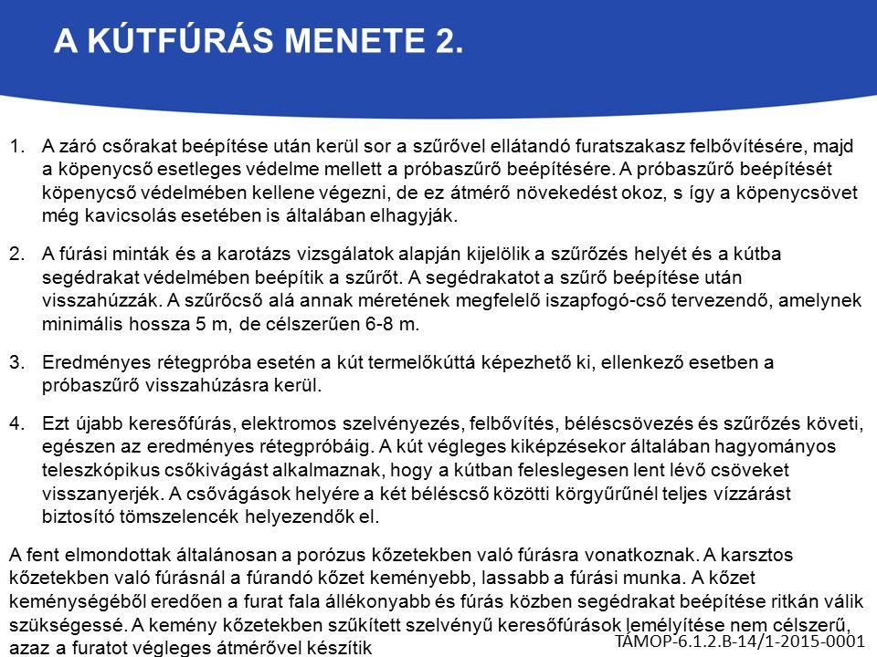 A KÚTFÚRÁS MENETE 2.