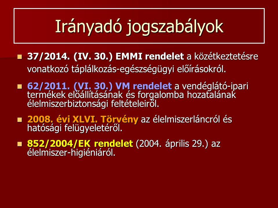 Irányadó jogszabályok 37/2014. (IV.