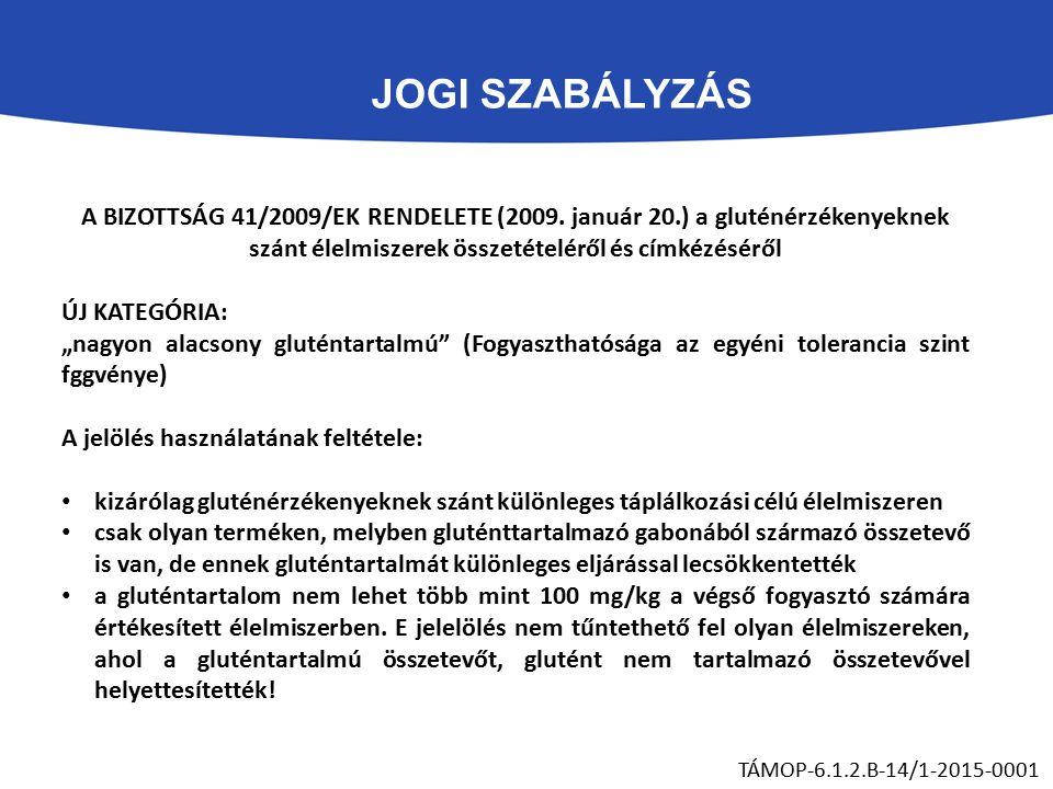 JOGI SZABÁLYZÁS TÁMOP-6.1.2.B-14/1-2015-0001 A BIZOTTSÁG 41/2009/EK RENDELETE (2009.