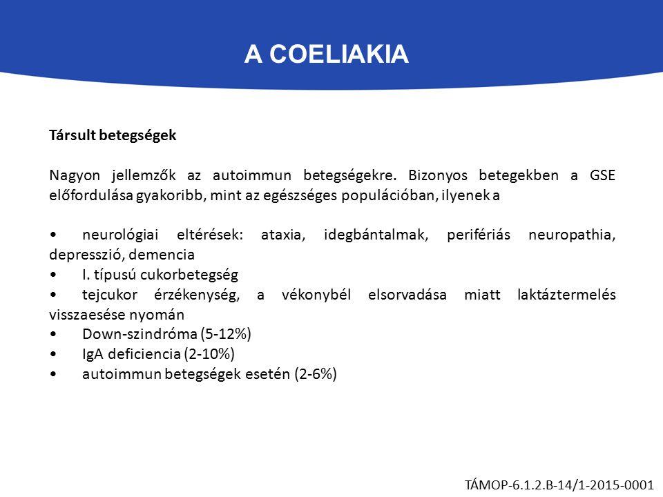 A COELIAKIA TÁMOP-6.1.2.B-14/1-2015-0001 Társult betegségek Nagyon jellemzők az autoimmun betegségekre.