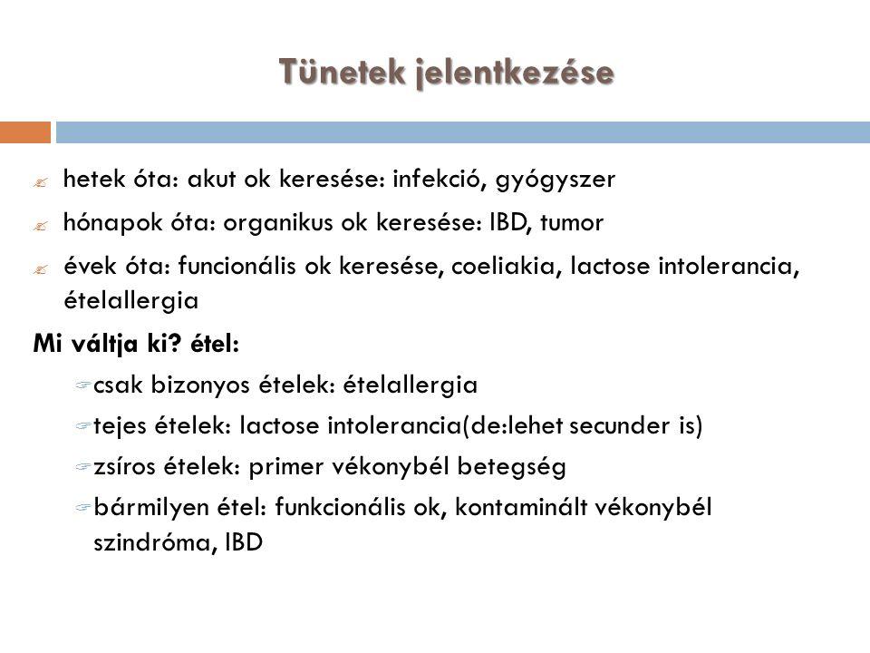 Terápia Sebészeti (diverticulum, vak bélkacs) Enterális táplálás Prokinetikus terápia (pl.