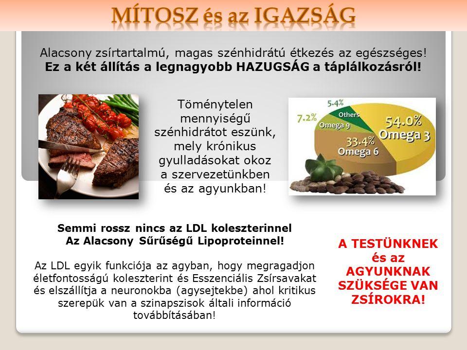 Alacsony zsírtartalmú, magas szénhidrátú étkezés az egészséges.
