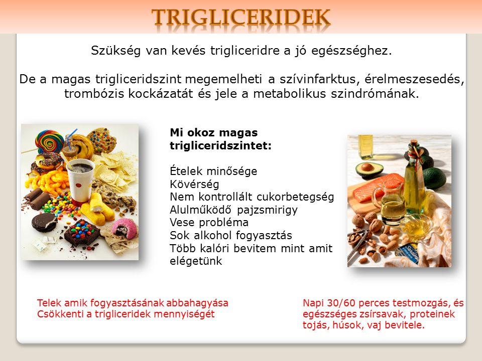 Szükség van kevés trigliceridre a jó egészséghez.