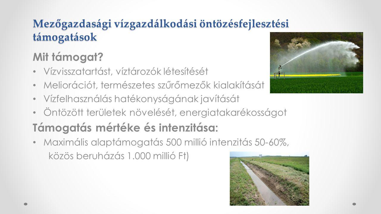 Mezőgazdasági vízgazdálkodási öntözésfejlesztési támogatások Mit támogat.