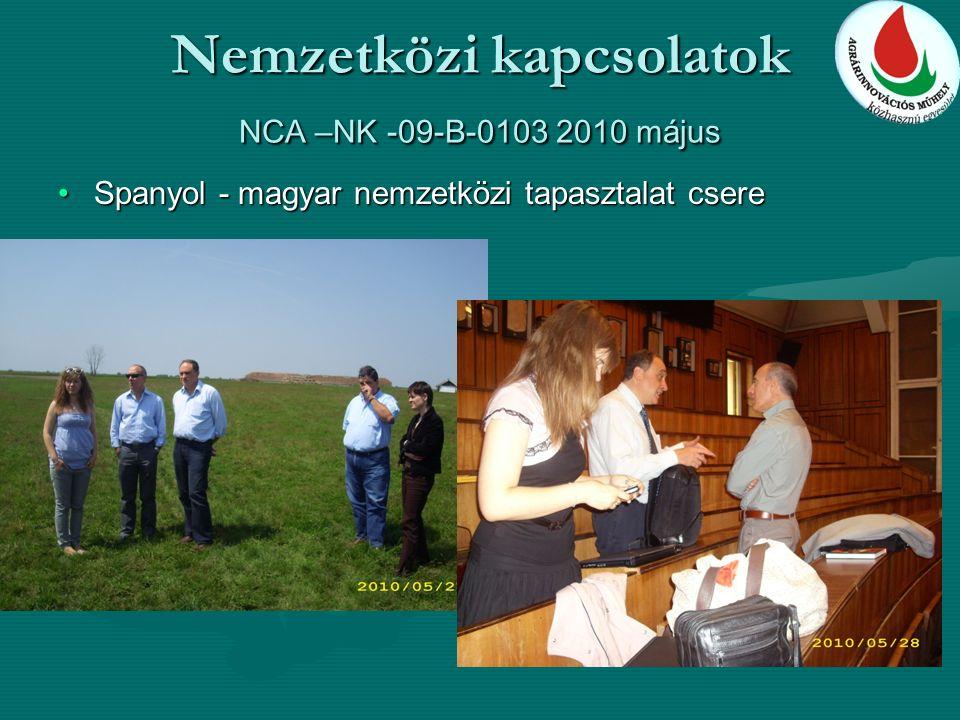 Nemzetközi kapcsolatok NCA –NK -09-B-0103 2010 május Spanyol - magyar nemzetközi tapasztalat csereSpanyol - magyar nemzetközi tapasztalat csere