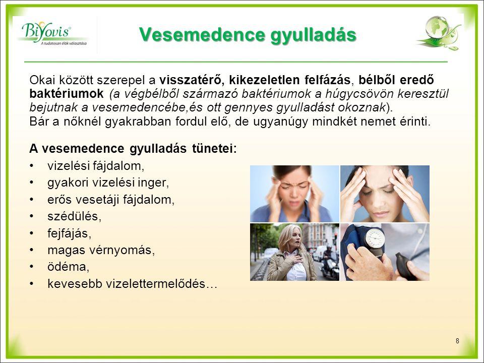 Kiválasztó szervrendszeri betegségek: vese- és húgykő, homok A vesekövek típusai: - kalcium-oxalátkő (70-80 %) - hugysavkő (15-20 %), - foszfátkő (10 %), - cisztinkő (1 %).