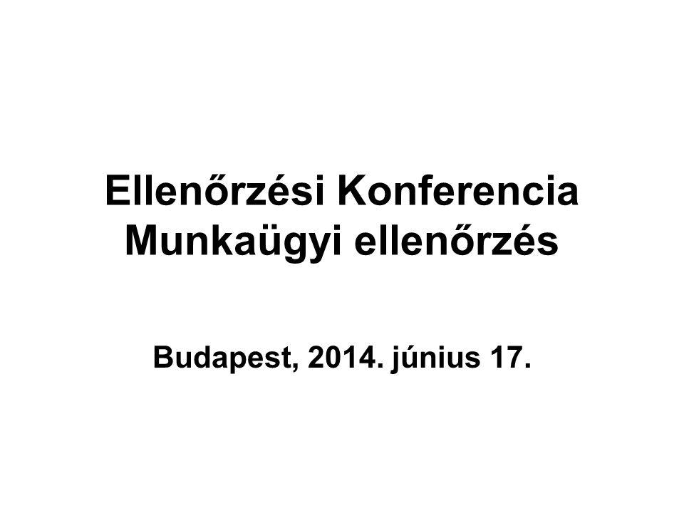 Ellenőrzési Konferencia Munkaügyi ellenőrzés Budapest, 2014. június 17.