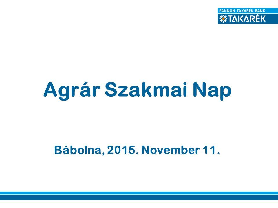 Bábolna, 2015. November 11. Agrár Szakmai Nap