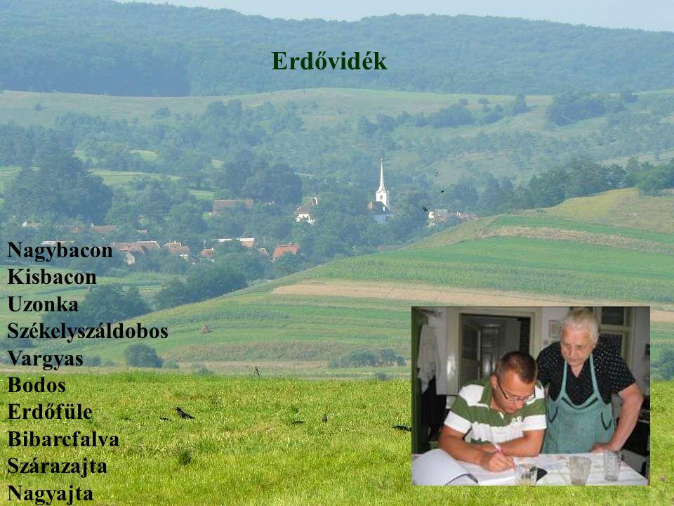 Erdővidék Nagybacon Kisbacon Uzonka Székelyszáldobos Vargyas Bodos Erdőfüle Bibarcfalva Szárazajta Nagyajta