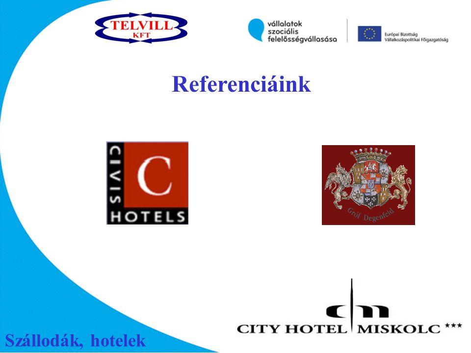 Szállodák, hotelek Referenciáink