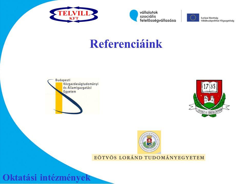 Oktatási intézmények Referenciáink
