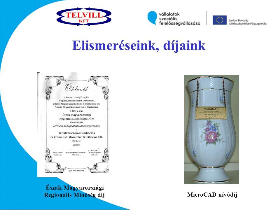 MicroCAD nívódíj Észak-Magyarországi Regionális Minőség díj Elismeréseink, díjaink