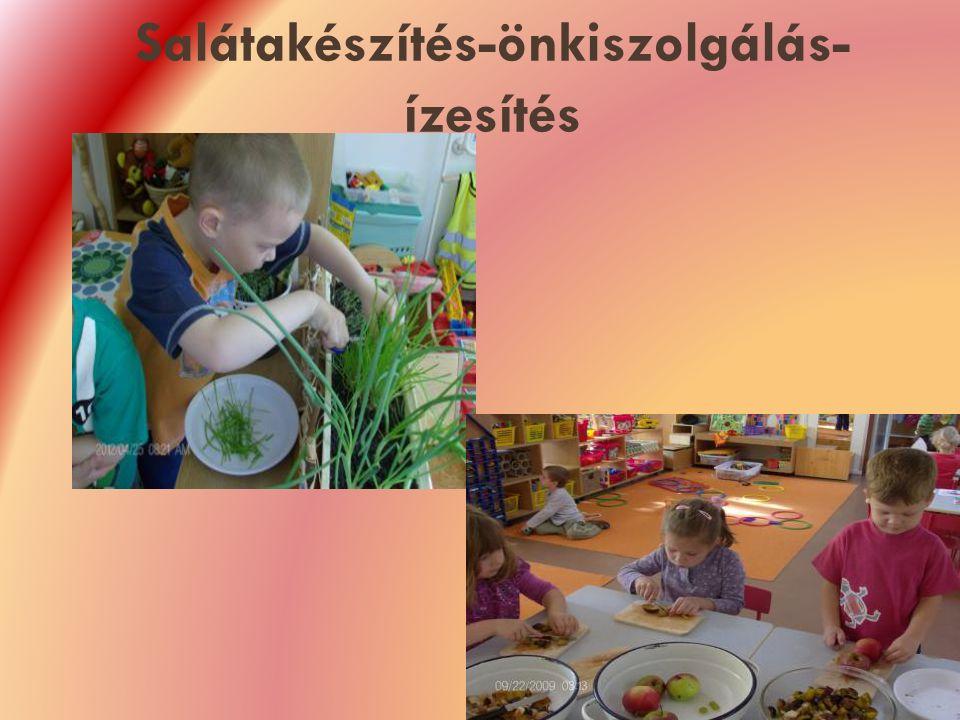 Salátakészítés-önkiszolgálás- ízesítés