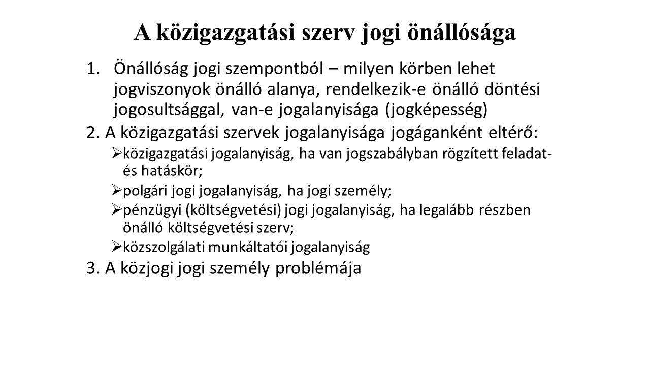 Területi államigazgatási szervek III.