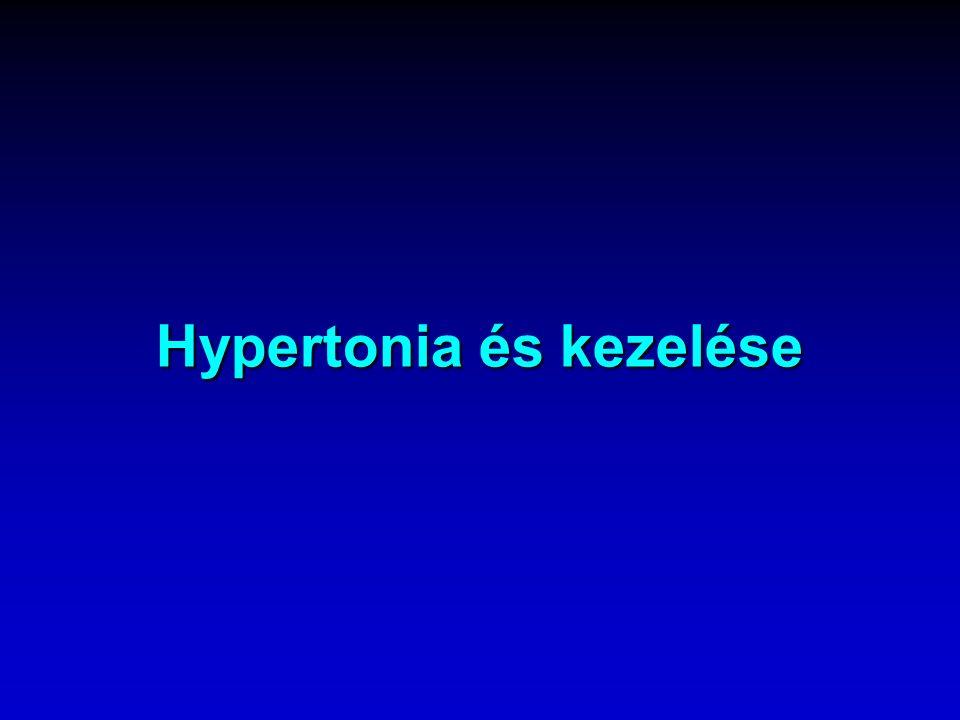 Hypertonia meghatározása   Három különböző alkalommal, 1 hetes időközzel mért vérnyomás érték átlaga nagyobb mint 139 Hgmm systoles, ill.