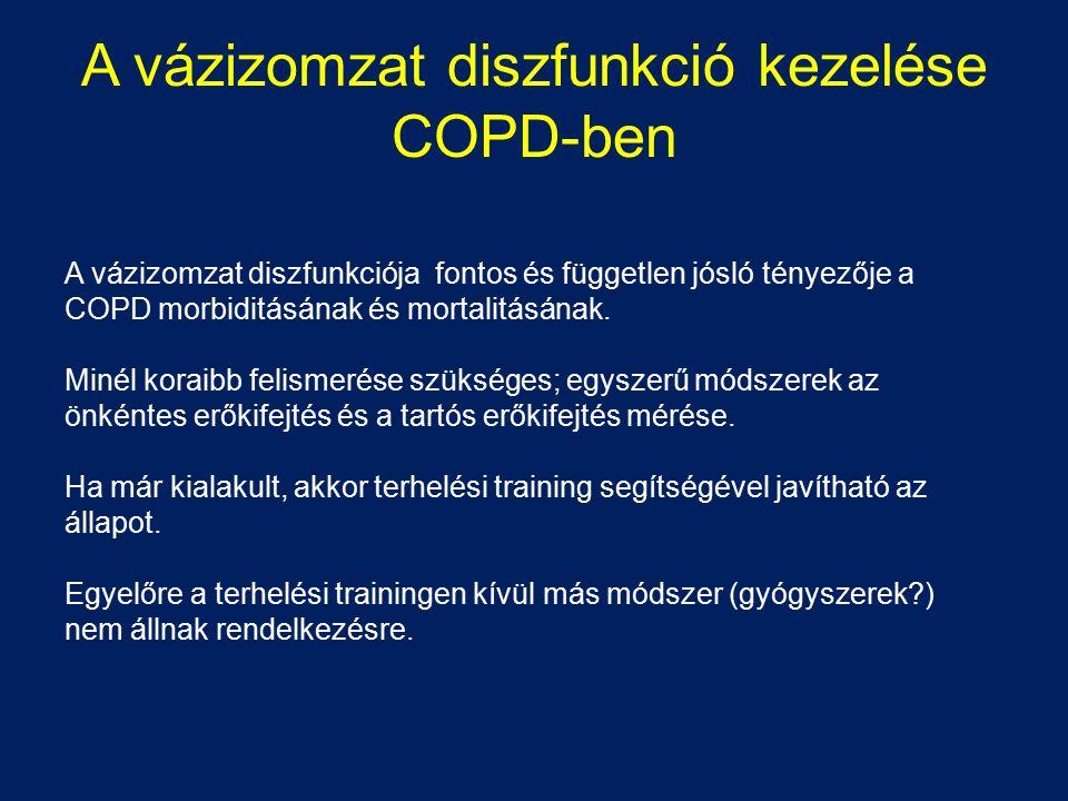 A vázizomzat diszfunkció kezelése COPD-ben A vázizomzat diszfunkciója fontos és független jósló tényezője a COPD morbiditásának és mortalitásának. Min