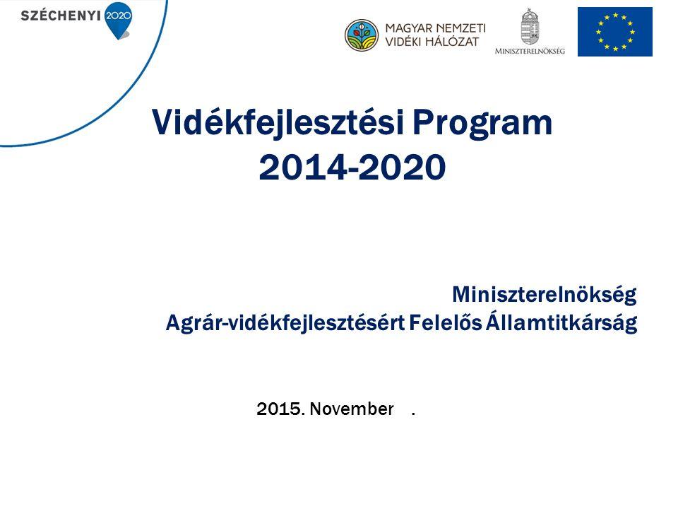 Vidékfejlesztési Program 2014-2020 Miniszterelnökség Agrár-vidékfejlesztésért Felelős Államtitkárság 2015.