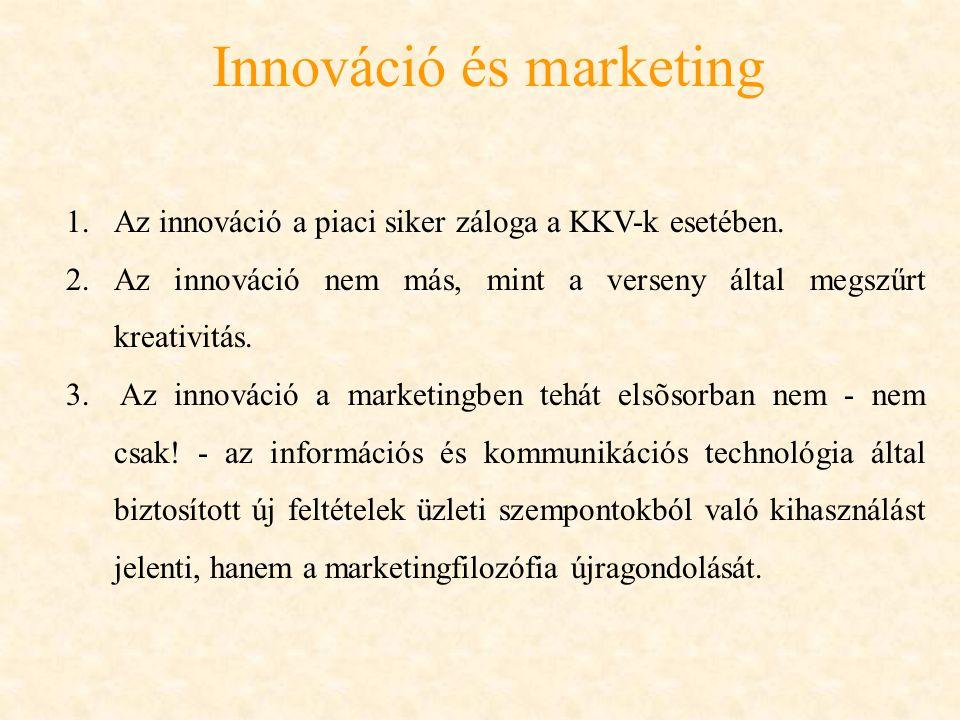 Innováció és marketing Marketing fogalmát különböző módon határozzák meg.