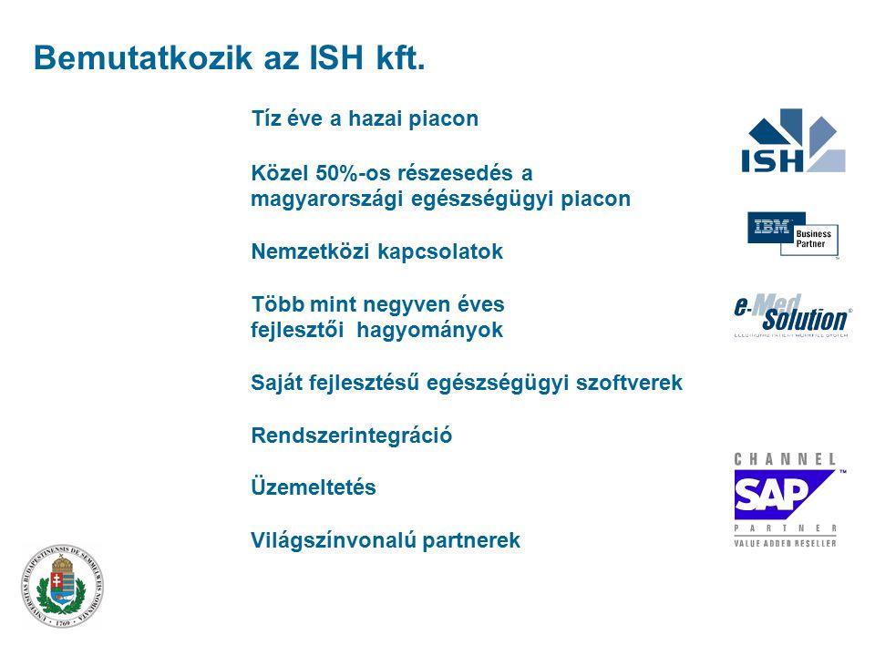 A legtöbb referenciával rendelkező kórházi rendszer fejlesztője és üzemeltetője Bemutatkozik az ISH kft.