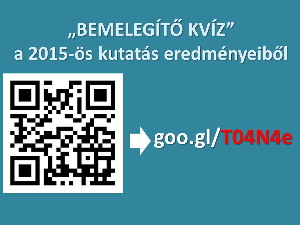 """""""BEMELEGÍTŐ KVÍZ a 2015-ös kutatás eredményeiből goo.gl/T04N4e"""