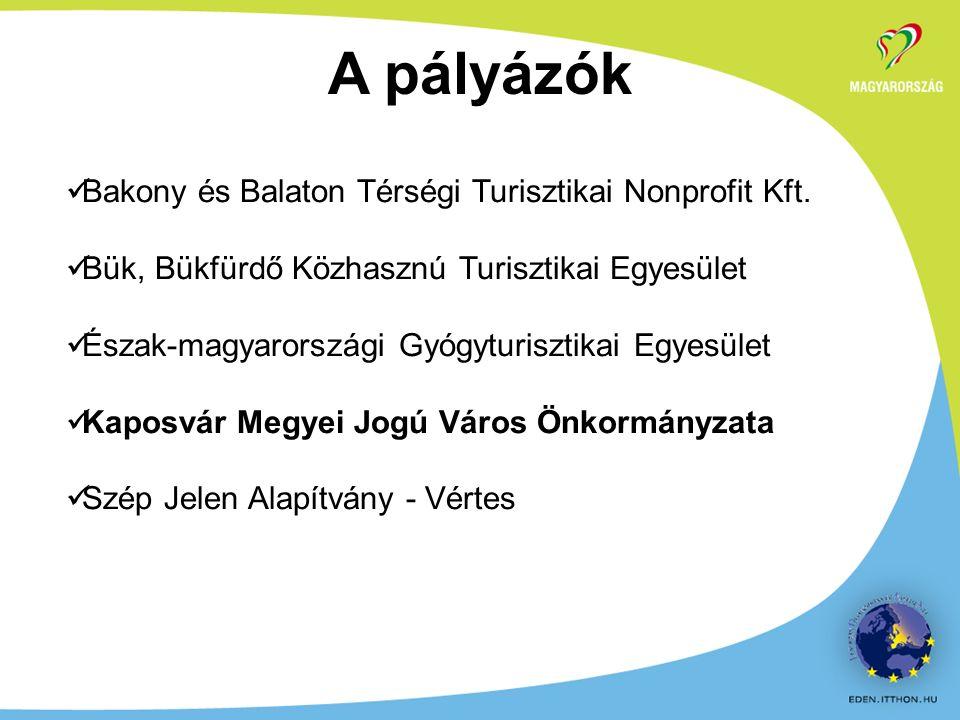 A pályázók Bakony és Balaton Térségi Turisztikai Nonprofit Kft.