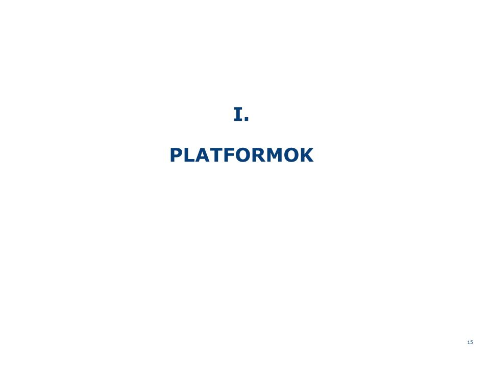 I. PLATFORMOK 15