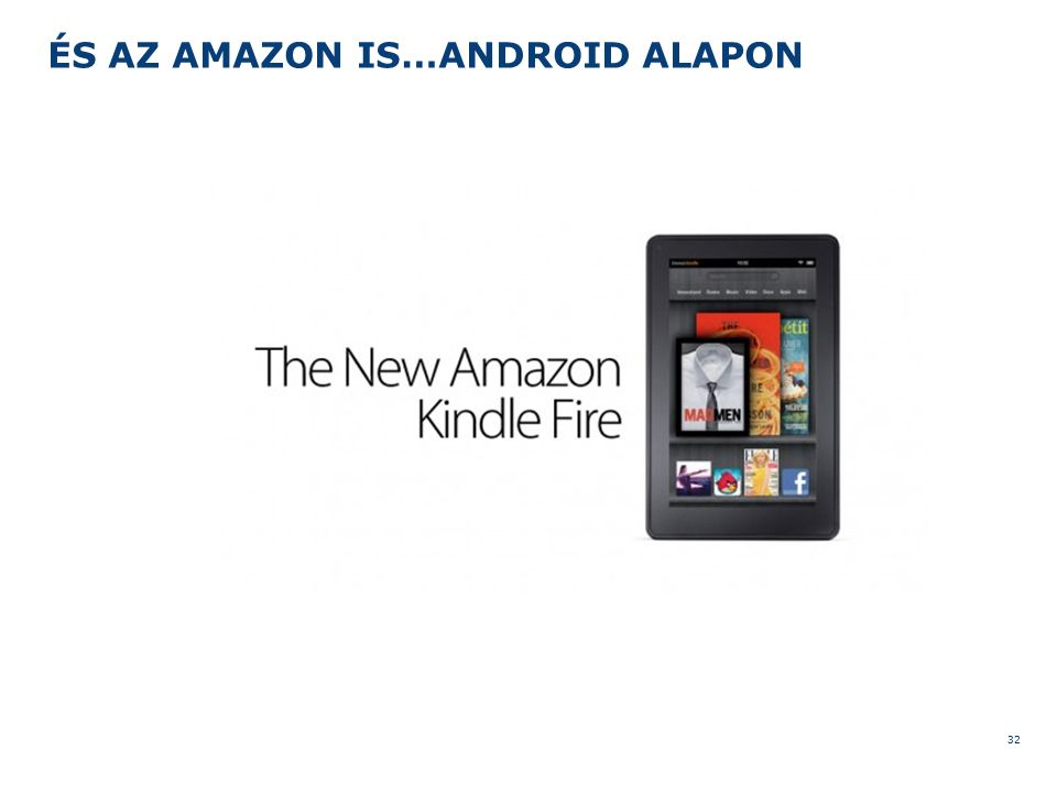 ÉS AZ AMAZON IS…ANDROID ALAPON 32