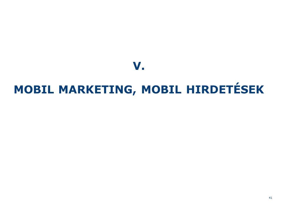 V. MOBIL MARKETING, MOBIL HIRDETÉSEK 41