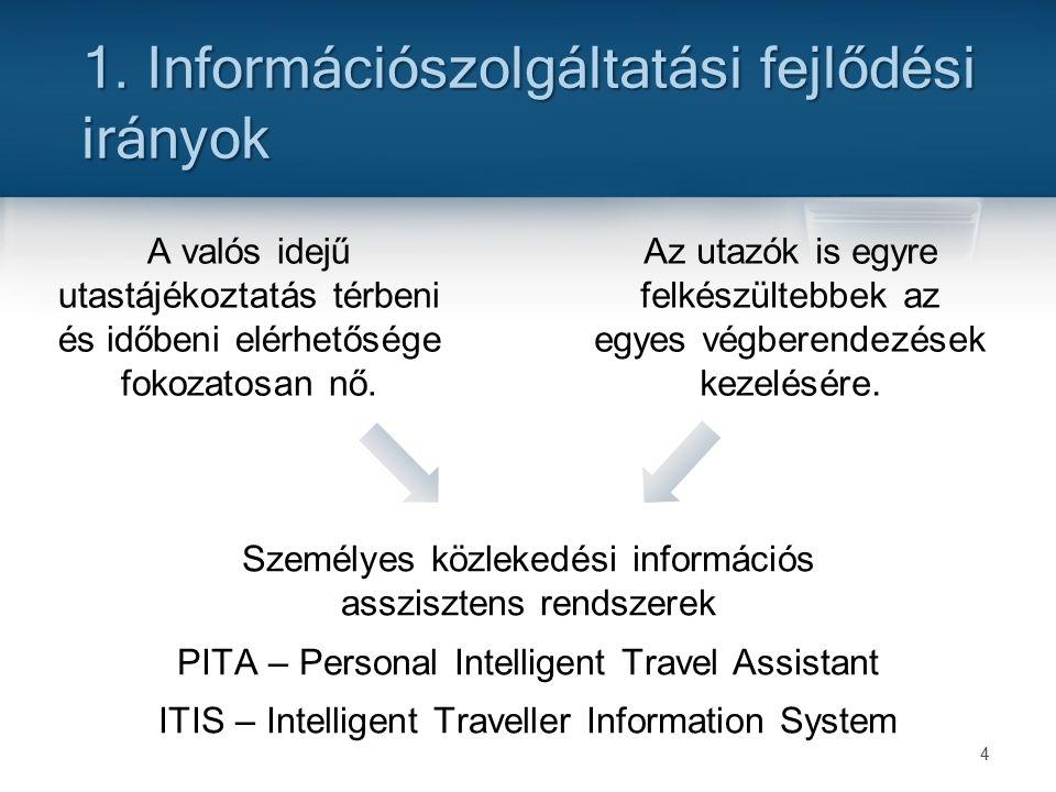 4 A valós idejű utastájékoztatás térbeni és időbeni elérhetősége fokozatosan nő.