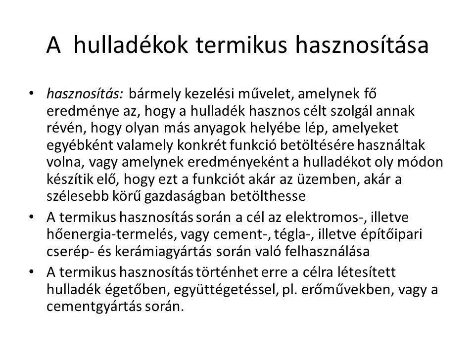 Tartalom A hazai hulladék szabályozás A hulladékról szóló 2012.