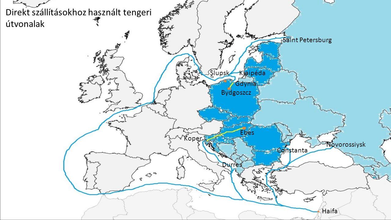 7 Az ebesi központ tehermentesítése: Direkt szállítások Izraelből Ebes érintése nélkül.