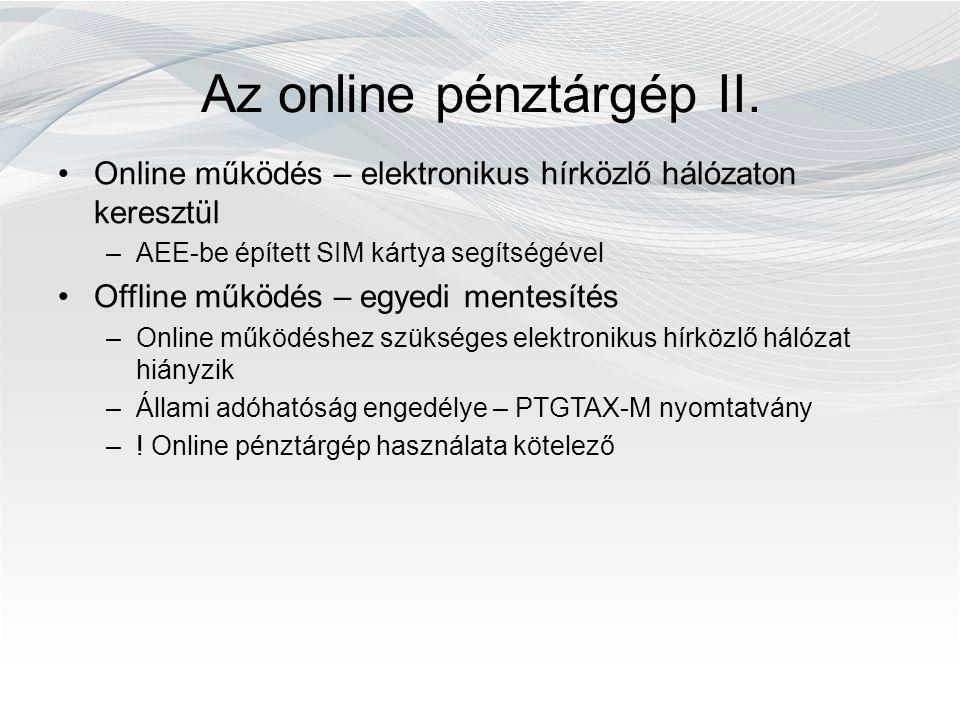 Az online pénztárgép II.