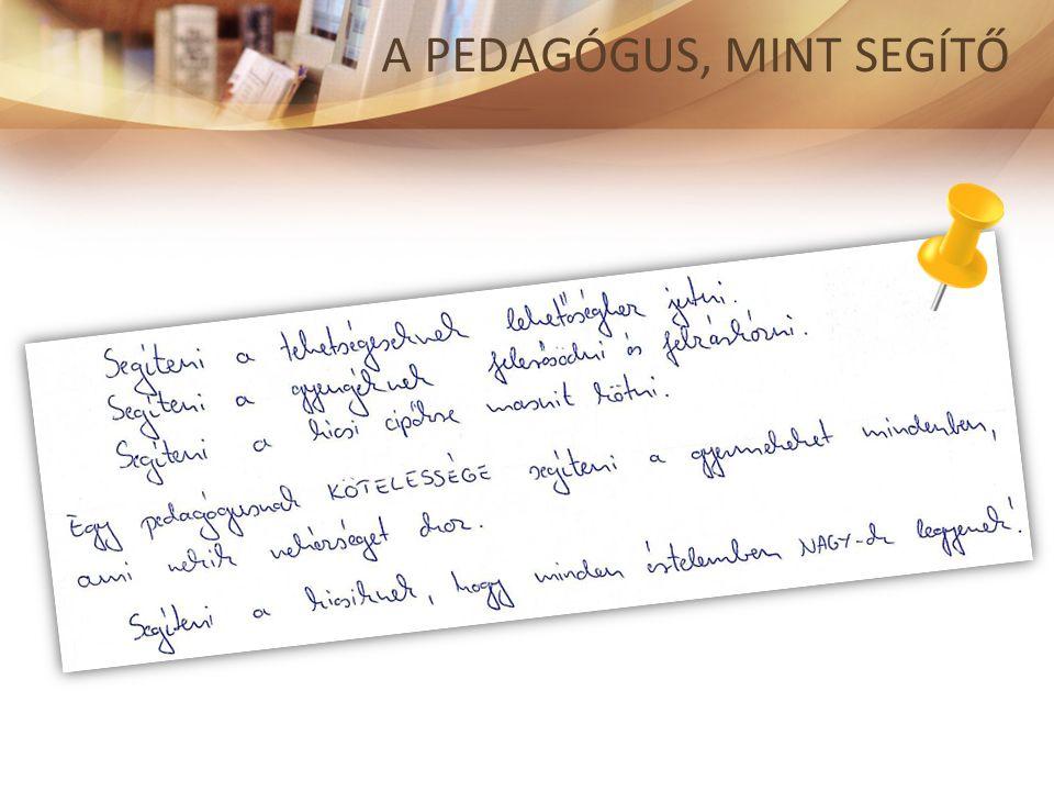 Új Kép, 2013. 3-4. sz. http://ujkep.net/2014-01- 05_segito-pedagogia A PEDAGÓGUS, MINT SEGÍTŐ