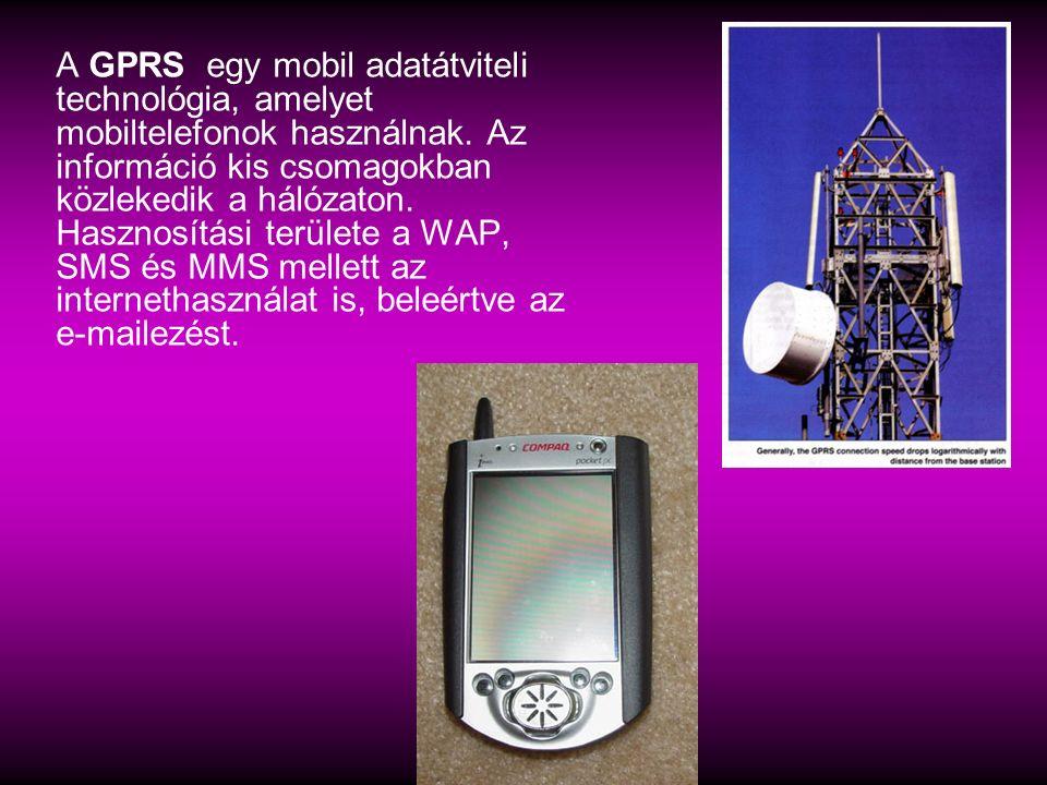 A GPRS egy mobil adatátviteli technológia, amelyet mobiltelefonok használnak. Az információ kis csomagokban közlekedik a hálózaton. Hasznosítási terül