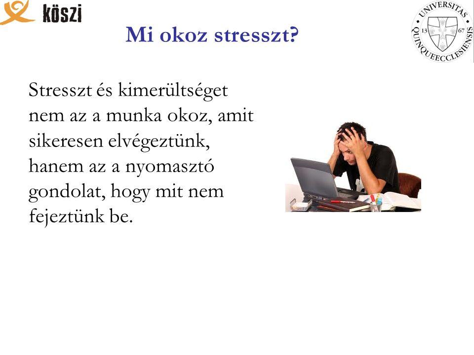 Mi okoz stresszt.